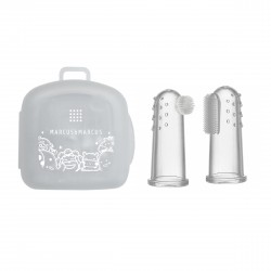Marcus & Marcus Finger Cap Toothbrush & Gum Massager Set