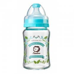 Simba Crystal Romance Wide Neck Glass Bottle [Herb Blue] - 180ml/6oz