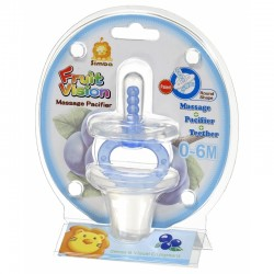 Simba Fruit Vision Round Shape Massage Pacifier (0 Months+) Blue