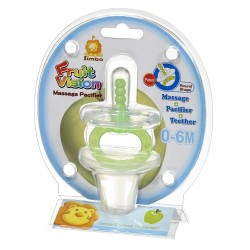 Simba Fruit Vision Round Shape Massage Pacifier (0 Months+) (Green)