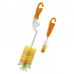 Simba Rotary Silicone Bristle Bottle Brush - Orange