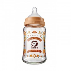 Simba Crystal Romance Wide Neck Glass Bottle [Sunny Brown] - 180ml/6oz