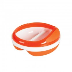 OXO TOT Divided Feeding Dish With Removable Ring (Orange)