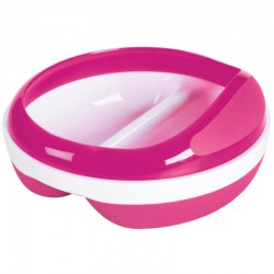 OXO TOT Divided Feeding Dish With Removable Ring (Pink)