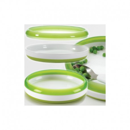 OXO TOT Training Plate with Removable Ring - Green