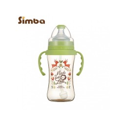 Simba Dorothy Wonderland PPSU Bottle[Handle+Auto Straw]-Wide Neck 270ml-Green