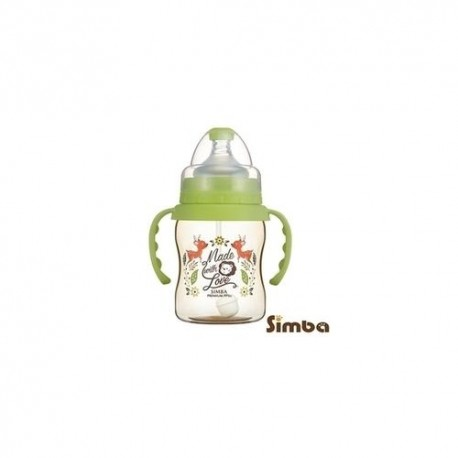 Simba Dorothy Wonderland PPSU Bottle[Handle+Auto Straw]-Wide Neck 200ml-Green