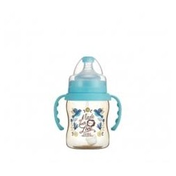 Simba Dorothy Wonderland PPSU Bottle[Handle+Auto Straw]-Wide Neck 200ml-Blue