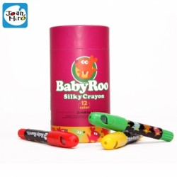 Joan Miro Babyroo Silky Washable Crayon - 12ct