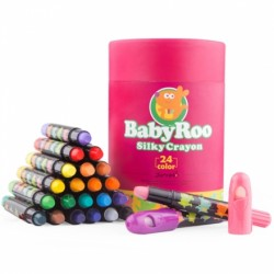 Joan Miro Babyroo Silky Washable Crayon - 24ct