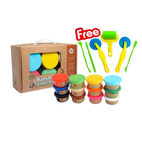 Joan Miro BabyRoo Super Soft Modeling Dough - 12ct (Free Tool Set)