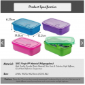 Ichiro Lunch Box Container with Fork & Spoon Bento (1000ml)