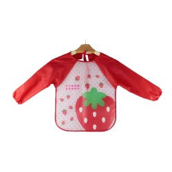 Ichiro Waterproof Sleeves Bib - Strawberry