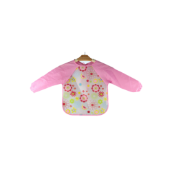 Ichiro Waterproof BIB with sleeves - Pink Flower