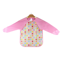 Ichiro Waterproof BIB with sleeves- Pink Polka