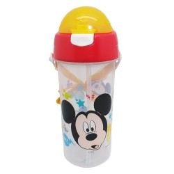 Disney Mickey Mouse Gosh 580ml Water Bottle with Straw (BPA Free)