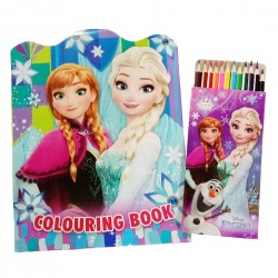 Disney Frozen Magic Coloring Book With Long Color Pencil Set