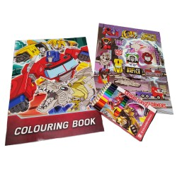 Transformers TFEG Coloring Book With Short Color Pencil Set