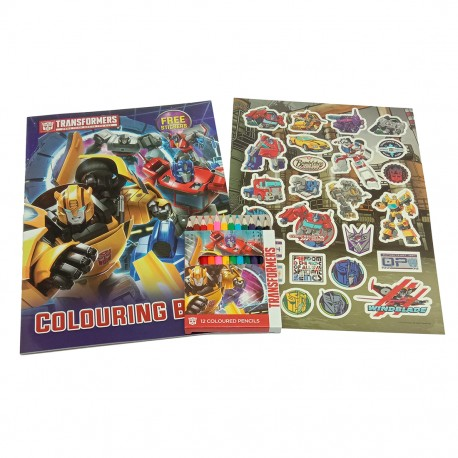 Transformers Autobot Coloring Book Set With Sticker