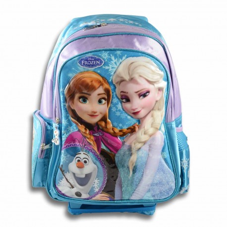 Disney Frozen Sparkling Blue School Trolley Bag
