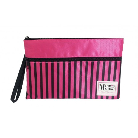 Disney Minnie Mouse Logo Double Zip Pouch