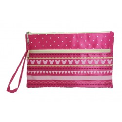 Disney Minnie Mouse Pink Line Double Zip Pouch