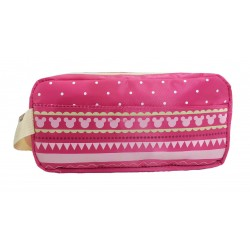 Disney Minnie Mouse Pink Line One Zip Pencil Bag