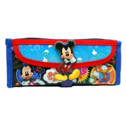 Disney Mickey Mouse Oh Boy Square Pencil Bag With Pocket