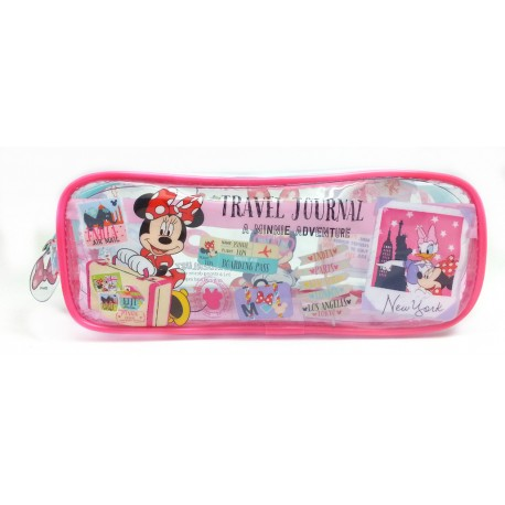 Disney Minnie Mouse Square Transparent Pencil Bag Set