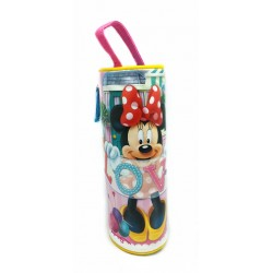 Disney Minnie Mouse Love Banner Round Pencil Bag