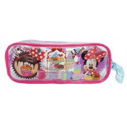 Disney Minnie Mouse Tea Time Transparent Square Pencil Bag Set (1)