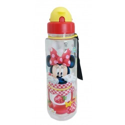 Disney Minnie Mouse Starwberry Jam 650ML  Tritan Bottle With Straw