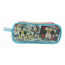 Disney Mickey Mouse Selfie Transparent Square Pencil Bag Set