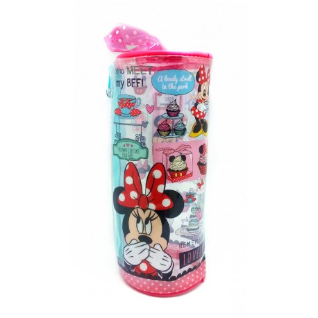 Disney Minnie Mouse Round Transparent Pencil Bag Set