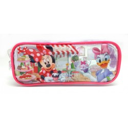 Disney Minnie Mouse Tea Time Transparent Square Pencil Bag Set (2)