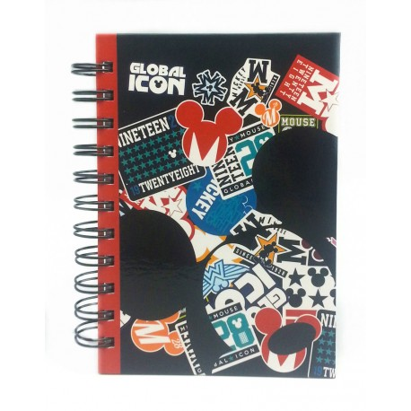 Disney RETRO MICKEY A6 150'S Spot UV NoteBook-B