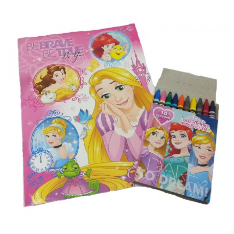 Disney Princess Be Brave Coloring Book Set