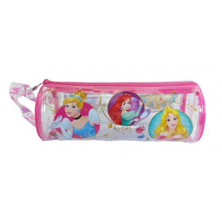 Disney Princess Castle Transparent Round Pencil Bag Set