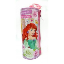 Disney Princess Friendship Round Transparent Pencil Bag Set