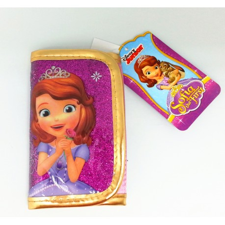 Disney Sofia The First Sparkling Purple 3 Fold Wallet