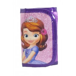 Disney Sofia The First With Clover Sparkling 3 Fold Wallet