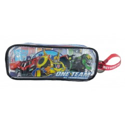 Transformers One Mission Transparent Square Pencil Bag Set