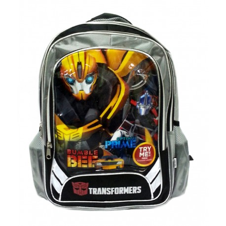 Transformers Bee & Prime School Bag With Flashing Light Design