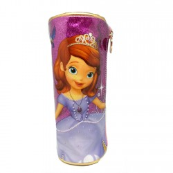 Disney Sofia The First Sparkling Purple Round Pencil Bag