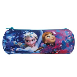 Disney Frozen Purple Round Pencil Bag