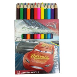 Disney Cars 3 12Pcs Short Color Pencil