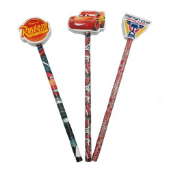 Disney Cars 3 Pencil With Eraser Top Set