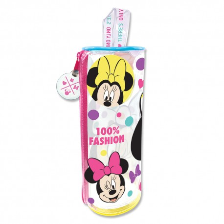 Disney Minnie Mouse Fashion Transparent Round Pencil Bag Set