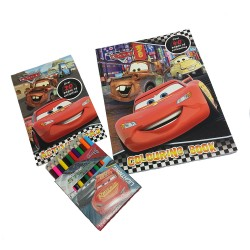 Disney Cars3 Activity & Coloring Book With Color Pencil Set