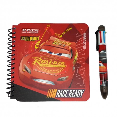 Disney Cars 3 Note Book With Ball Pen Set